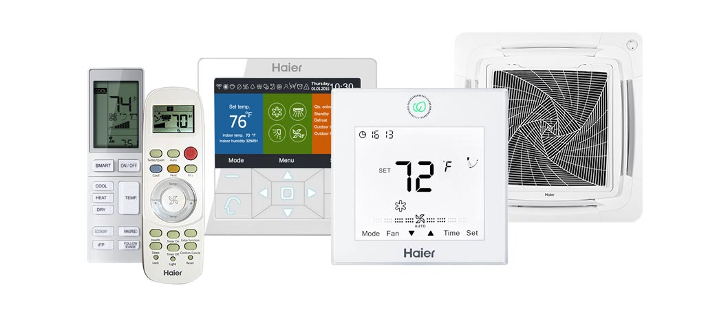 Photo of Haier Ductless AC controls and accessories