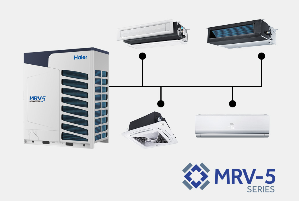 Photo of Haier Ductless Multi Zone MRV-5 Series AC Units