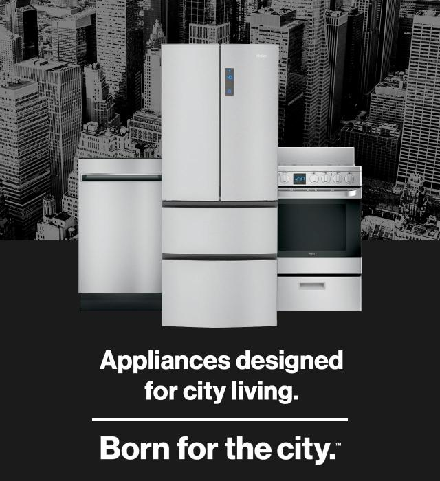 Appliances designed for city living - born for the city
