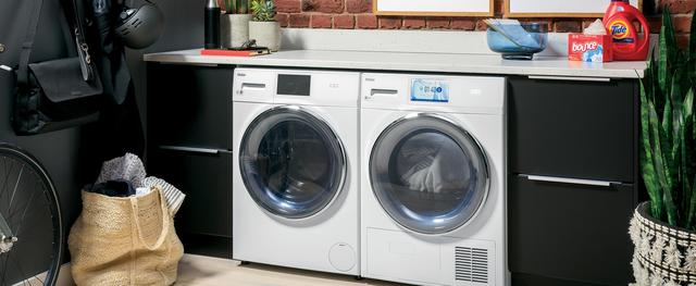 Haier front load washer and ventless dryer installed in urban home