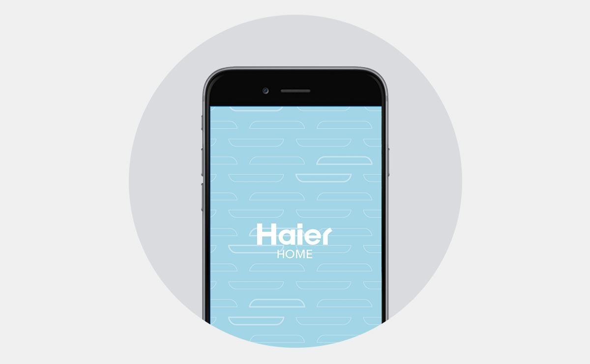 Photo of Haier Home App main screen on phone